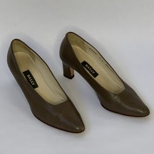 Bally Womens High Heel Shoes Brown Size 8